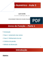 Aula 3 - Zeros de Função (Parte 1)
