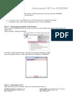 Como adicionar a OLT no ANM2000