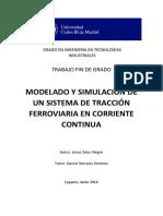 Modelado y simulacion de un sistema de traccion ferroviaria en corriente continua
