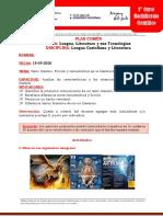 Lengua Castellana y Literatura - 1º Curso-15!09!2020