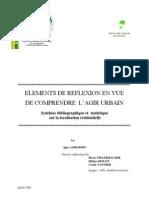ELEMENTS DE REFLEXION EN VUE DE COMPRENDRE L'Agir urbain