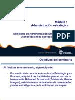 Modulo 1. Seminario de Administración Estratégica usando Balanced Scorecard