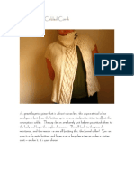 Asymmetrical Cabled Cardi
