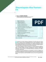 Traitements Thermiques Des Fontes-guide de Choix