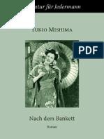 Mishima, Yukio - Nach Dem Bankett