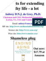 Aubrey de Grey - SENS