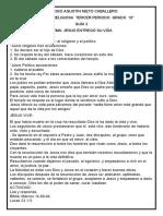 GUÍA 2 DE RELIGIÓN  10°  JESÚS ENTREGÓ SU VIDA   2021  VIRTUAL   P.3
