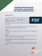 Proceso de Renovación para Becas Participación Social Guanajuato 2021