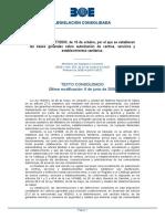 Real Decreto 1277- 2003, de 10 de octubre, por el que se establecen las bases generales sobre autorización de centros, servicios y establecimientos sanitarios