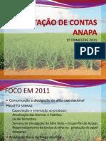 Prestação de contas 2011
