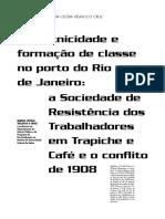 Cor etnicidade e formação de classe no porto do Rio