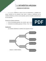 GUIA N°1- DE ESTADISTICA APLICADA Variables Estadisticas