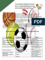 Actividades 2014 Departamento de Deportes