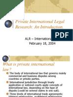 Private International Legal Research