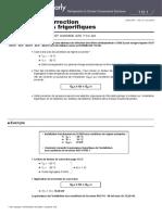 Catalogue facteur de correction