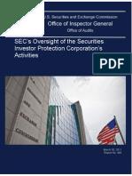 Sec Oig Report Re- Sipc 03-30-2011