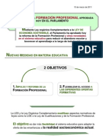 10.03.11 APROBADA LA REFORMA DE FP