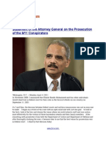 Statement of the Attorney General on the Prosecution of the 9/11 Conspirators (with VIDEO)