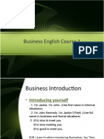 Business English Course 1