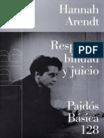 Hannah Arendt - Responsabilidad y Juicio-Grupo Planeta (GBS) (2007)