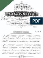 Gaetano Filosa - Metodo Di Calligrafia