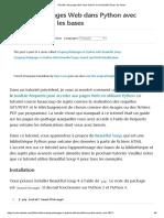 Récolter des pages Web dans Python avec Beautiful Soup_ les bases