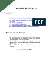 Detector de Resistencia metálica RTDs