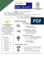 Farmington Lutheran Church April 2011 Newsletter