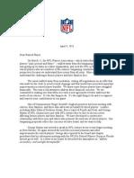 Retired Player Letter