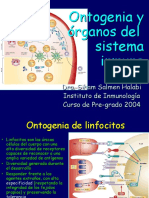 Ontogenia y organos del SI pre-grado 2004