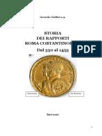 CIOFFARI, G.- I. Storia Dei Rapporti Roma-Costantinopoli (330 Al 1453)