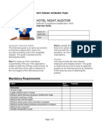 Night auditor Interview Guide