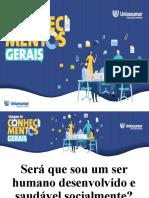 1 - PALESTRA - SERÁ QUE SOU HUMANO DESENVOLVIDO - 09-03-20