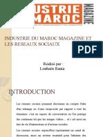 INDUSTRIE DU MAROC MAGAZINE ET LES RESEAUX SOCIAUX