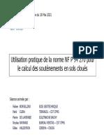 Sommaire de NF P 94 270