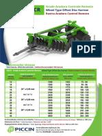 Especificações Grade Aradora Piccin GACR 20 x 24
