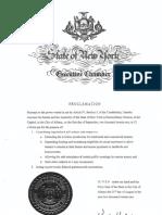 Governor Hochul Extraordinary Session Proclamation on Eviction Moratorium