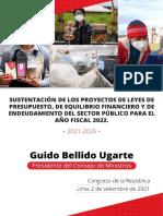 Discurso Del Presidente Del Consejo de Ministro Para Presentar El Presupuesto 2022 Ante El Congreso