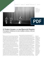 O Teatro Liyuan e a SuaÓpera de Pequim