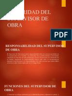 AUTORIDAD DEL SUPERVISOR DE OBRA