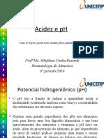 Acidez e pH