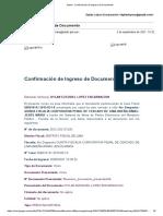 DOC-202131292; 2 SET 2021. SAIP a 4to Despacho - 5ta Fiscalía PENAL. CASO ENCUBRIMIENTO PERSONAL. 8 págs