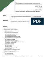 DTU 13.12 Règles pour le calcul des fondations superficielles