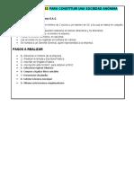 constitución de empresa S.A.C