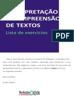 INTERPRETAÇÃO-LISTA-EXERCICIOS