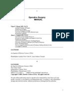 OperativeSurgeryManual