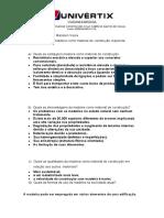 1ª LISTA DISCIPLINA DE MATERIAIS DE CONSTRUÇÃO 2