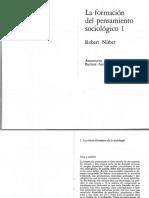 NISBET. Las Ideas-elementos de La Sociología en 'La Formación Del Pensamiento Sociológico'