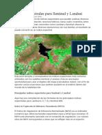 Indices espectrales para Sentinel y Landsat