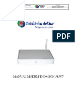 MANUAL, MODEM SPEEDTOUCH  585 V7